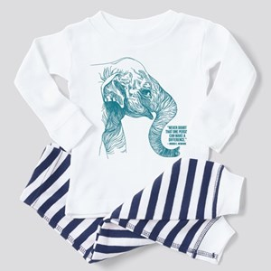 One Can Make a Difference Elephant Sketch Pajamas