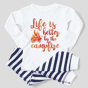 Life's Better Campfire Toddler Pajamas