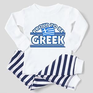 Proud to be Greek Design Toddler Pajamas