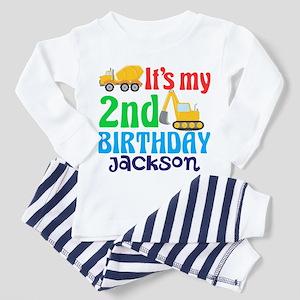 2nd Birthday Construction Toddler Pajamas