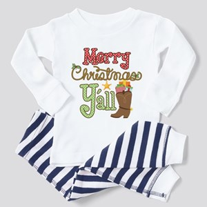Christmas Y'all Toddler Pajamas