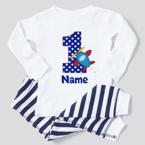 1st Birthday Airplane Personalized Pajamas
