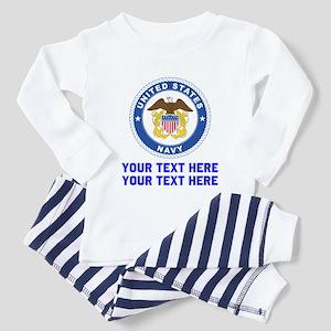 US Navy Sign Personalized Toddler Pajamas