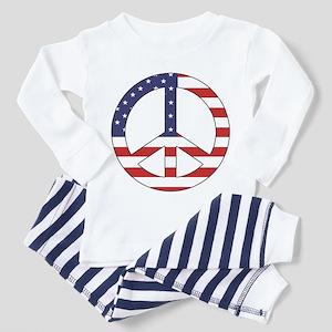 Peace Sign (American Flag) Toddler Pajamas
