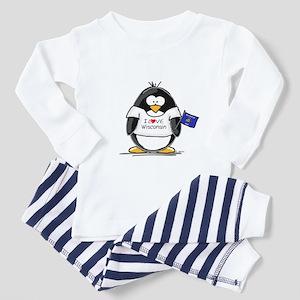 Wisconsin Penguin Toddler Pajamas