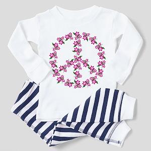 Peace Sign of flowers Toddler Pajamas