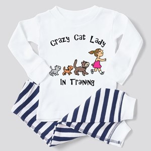 Crazy Cat Lady In Training Toddler Pajamas