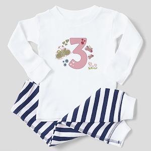 """Butterfly Birthday: 3"" Toddler Pajamas"