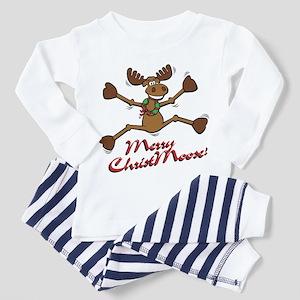 Merry Christmoose [jumping] Toddler Pajamas