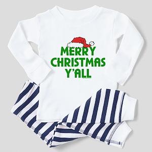 Merry Christmas Y'all Toddler Pajamas