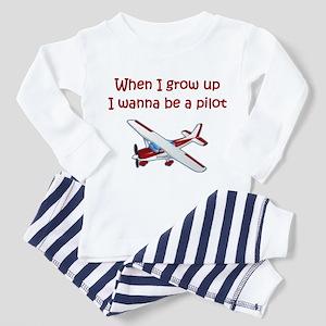 I Wanna Be a Pilot Toddler Pajamas