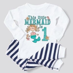 Mermaid First Birthday Toddler Pajamas
