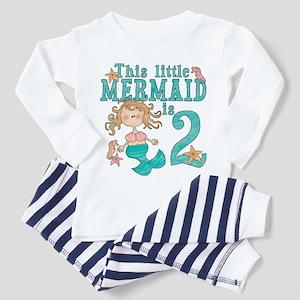 Mermaid 2nd Birthday Toddler Pajamas