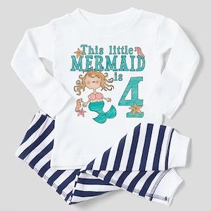 Mermaid 4th Birthday Toddler Pajamas