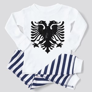Albanian Eagle Emblem Toddler Pajamas
