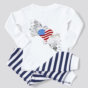 Independence Day Heart Toddler Pajamas