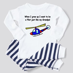 Helicopter Pilot Grandpa Toddler Pajamas