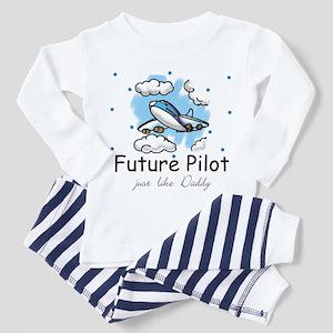 Future pilot like Daddy Toddler Pajamas