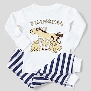 Bilingual, horse, cat, dog. Toddler Pajamas