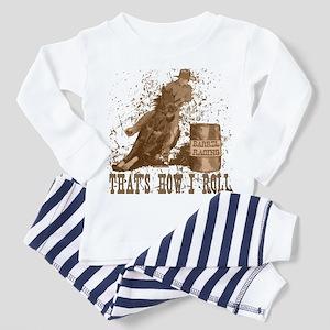 Barrel racing horse. Roll. Toddler Pajamas
