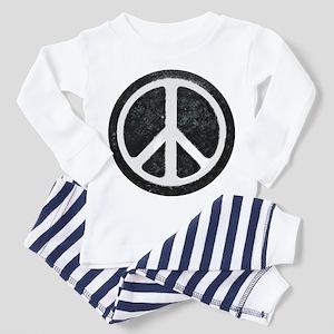 Original Vintage Peace Sign Toddler Pajamas