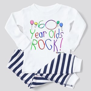 60 Year Olds Rock ! Toddler Pajamas