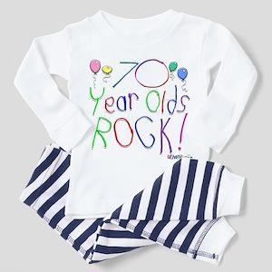 70 Year Olds Rock ! Toddler Pajamas