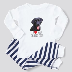 I Love My Black Lab Toddler Pajamas