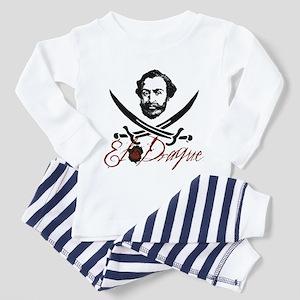 El Draque Pirate Insignia Toddler Pajamas