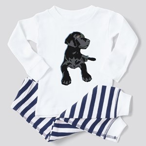 Black Lab Toddler Pajamas
