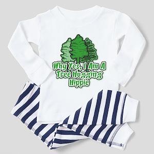 Tree Hugging Hippie Toddler Pajamas