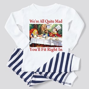 WE'RE ALL QUITE MAD Toddler Pajamas