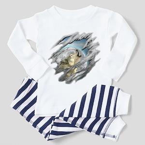 Torn Wolf Toddler Pajamas