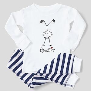 Stick Figure Gymnastics Toddler Pajamas