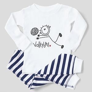 Stick Figure Volleyball Toddler Pajamas