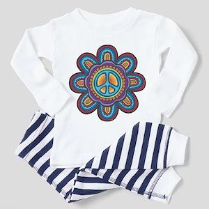 Hippie Peace Flower Toddler Pajamas