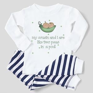 Cousins two peas in a pod Toddler Pajamas