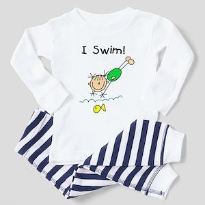Girl I Swim Toddler Pajamas