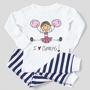 Pink Love Cheering Toddler Pajamas