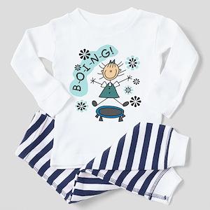 Girl on Trampoline Toddler Pajamas