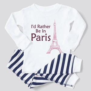 I'd Rather Be In Paris Toddler Pajamas