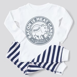 bacon is meat candy Toddler Pajamas