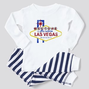 Las Vegas Sign Distressed Toddler Pajamas