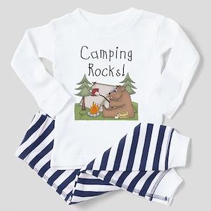 Bear Camping Rocks Toddler Pajamas