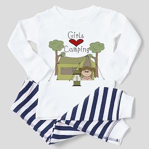 Girls Love Camping Toddler Pajamas