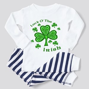 Irish Luck Shamrocks Toddler Pajamas