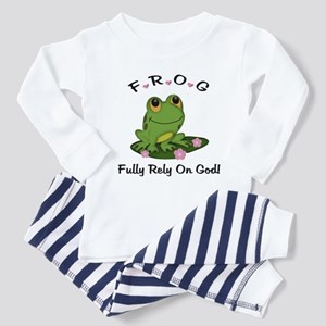 FROG Fully Rely On God Toddler Pajamas