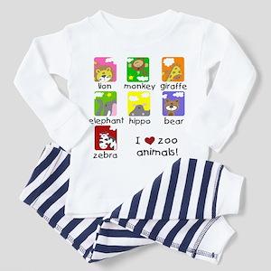 I Love Zoo Animals Toddler Pajamas