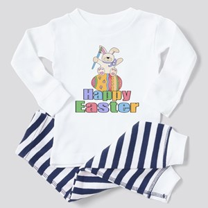 Happy Easter Artist Bunny Toddler Pajamas