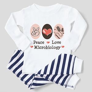 Peace Love Microbiology Toddler Pajamas